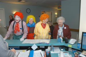 HHH Clowns entertain at Havenwood;s , medical care facility. (Concord Monitor photo/Ken Williams)